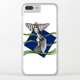 Oceanic alien #1 Clear iPhone Case