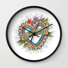 Amor Mío Wall Clock