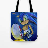 sonic Tote Bags featuring Sonic by amanda.scopel