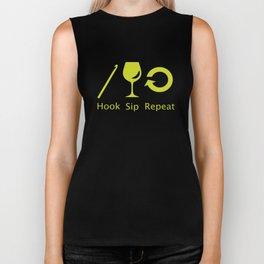 Hooks and Wine Biker Tank