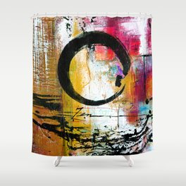 Enso Abstraction No. mm15 Shower Curtain