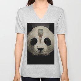 Panda window cleaner 03 Unisex V-Neck