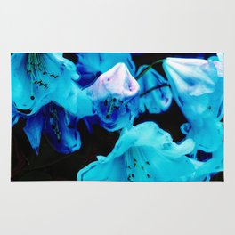 Rhododendrons in Blue Rug