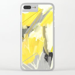 Abstract Yellow Painting - Minimalist Art Print - Home Decor Clear iPhone Case