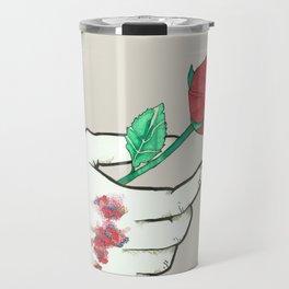 A Rose and an Apology Travel Mug