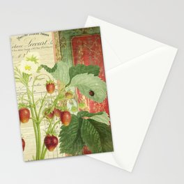 Fraises à la Crème Stationery Cards