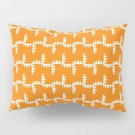 Funky Orange And White Pillow Sham