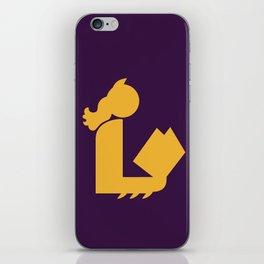 Lady Bat Reads iPhone Skin