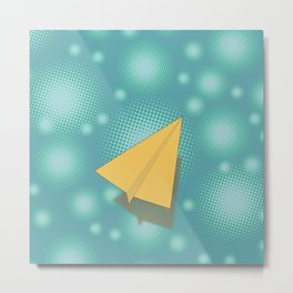 Paper Airplane 117 Metal Print