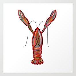 King Crawfish Art Print