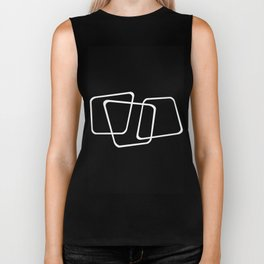 Simply Minimal 2 - Abstract, black and white Biker Tank
