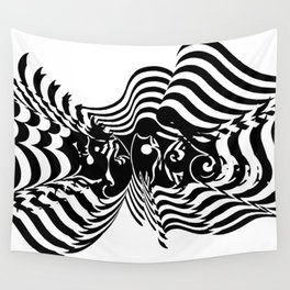 Psycho wave clear Wall Tapestry
