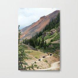 Red Mountain Pass Convoy Metal Print
