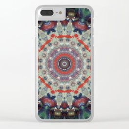 Candy Land Mandala Clear iPhone Case