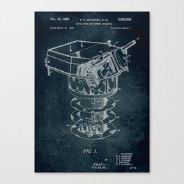 1950 - Rapid fire gun turret apparatus patent art Canvas Print
