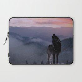 Lone Wolf at Sunset Ridge Laptop Sleeve
