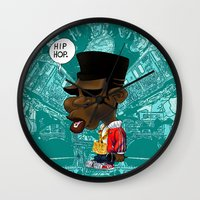hip hop Wall Clocks featuring Hip-Hop. by BbStarD