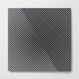 Sharkskin and Black Stripe Metal Print