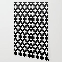 black-and-white pattern Yakshi Wallpaper