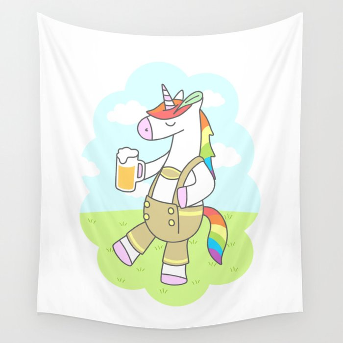 Unicorn Oktoberfest Wall Tapestry
