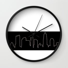 Charlotte, NC Skyline Wall Clock