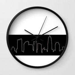 Charlotte, NC Skyline Wall Clock