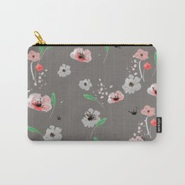 Watercolor Garden Grey Carry-All Pouch