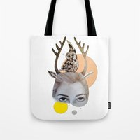 logo Tote Bags featuring Logo by Amy Bannister