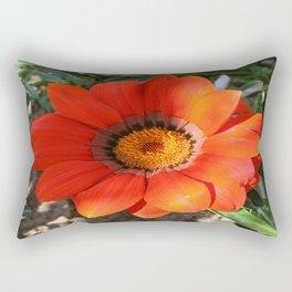 Close Up of a Beautiful Terracotta Gazania Flower Rectangular Pillow