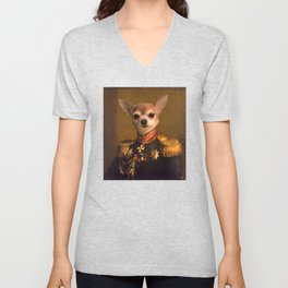 Chiwawa General portrait | Cute Kawaii Unisex V-Neck