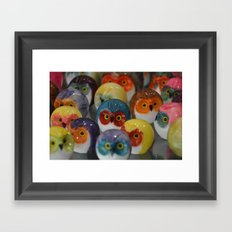 Alabaster Owls Framed Art Print