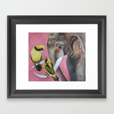 elephant fantasy (pink) Framed Art Print