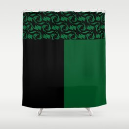 Abstract combo black and green decor Shower Curtain