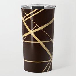 Crossroads - wavy graphic Travel Mug