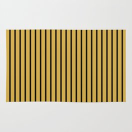 Spicy Mustard and Black Stripes Rug