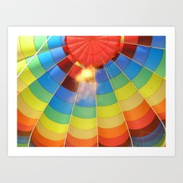 Flame Glow Float Art Print