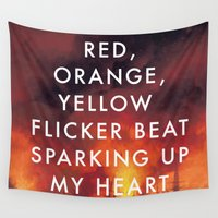 lorde Wall Tapestries featuring Battle Sparking Up My Heart by Lorde Art History