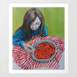 Soup Art Print