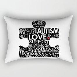 Autism Awareness Love Rectangular Pillow