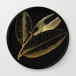 The golden leaf Wall Clock