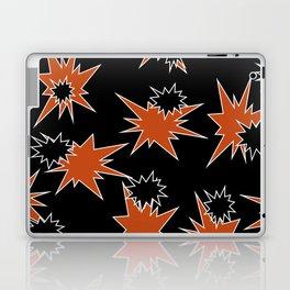 Stars (Orange & Black on Black) Laptop & iPad Skin