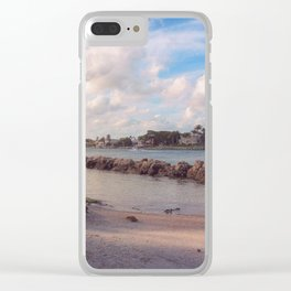 Winter Afternoon, Jupiter Inlet Lighthouse Clear iPhone Case