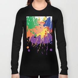 Colourful Paint splash Long Sleeve T-shirt