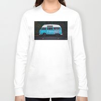 vw bus Long Sleeve T-shirts featuring Vintage VW Bus Rusted  by Limitless Design