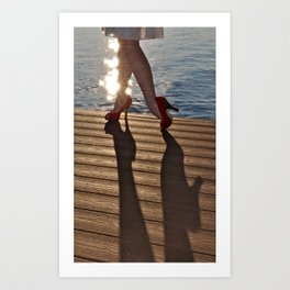 When High Heels Meet Hardwood. Art Print