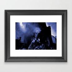 Blue Zombie Framed Art Print
