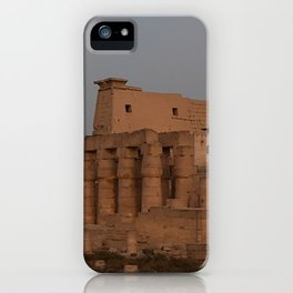 Temple of Luxor, no. 31, night scene iPhone Case