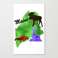 maine Canvas Prints featuring Maine by Nova Jarvis