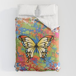 colorful butterfly Comforters