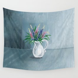 Pitcher of Lupins Wall Tapestry